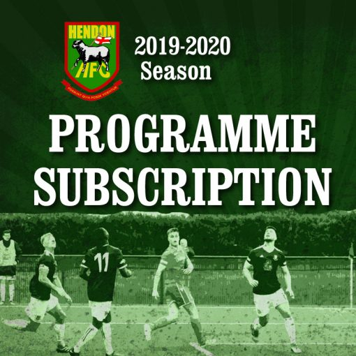 Hendon Football Club season program subscription