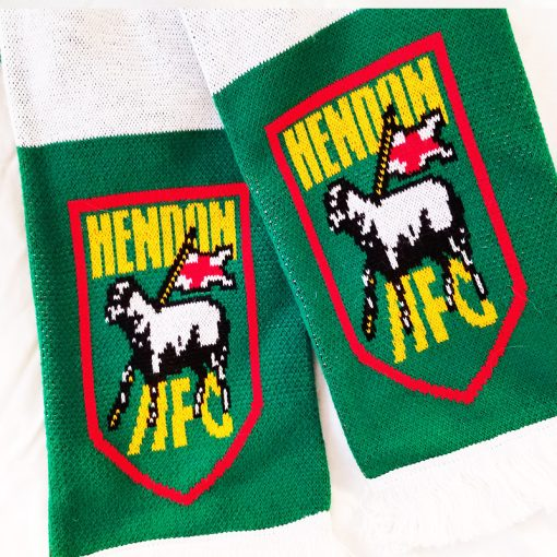 Hendon football club striped scarf