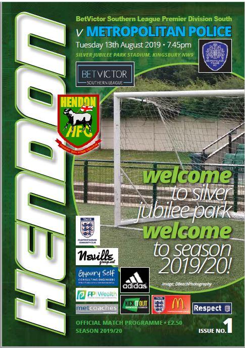 hendon football club versus metropolitan police cover