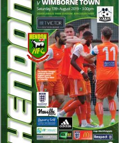 Hendon football club wimborne town program cover