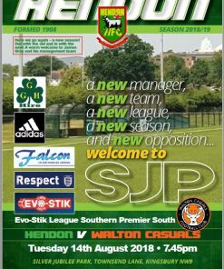 Hendon FC 2018-19 season program volume 1