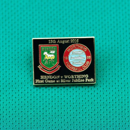 Hendon Football Club Inaugural Match at SJP badge