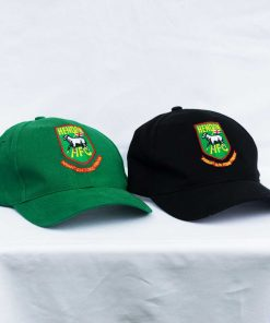 Hendon football club baseball caps in black and green