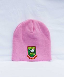 Hendon football club wool beanie in pnk