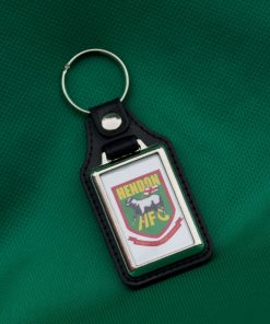 Key ring with ball on one side and the Hendon badge on the other
