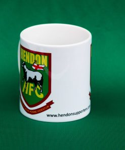 Ceramic mug with Hendon FC badge, in white