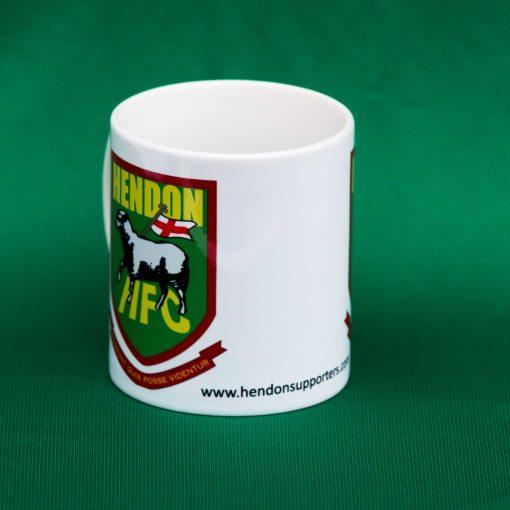 Ceramic mug with Hendon FC badge, in white