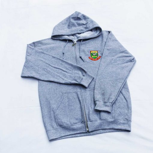 Hendon Football Club front zip hoodie in grey