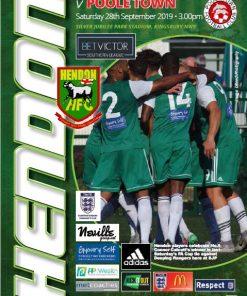Hendon Poole program cover