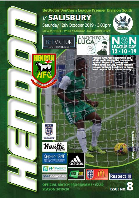 Hendon FC Salisbury FC program