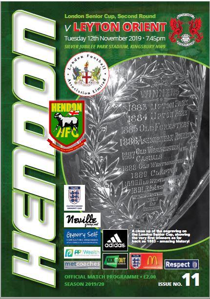 Hendon versus Leyton Orient cover
