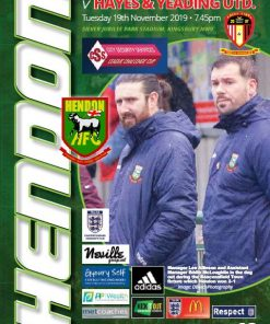 Hendon versus Hayes Yeading cover