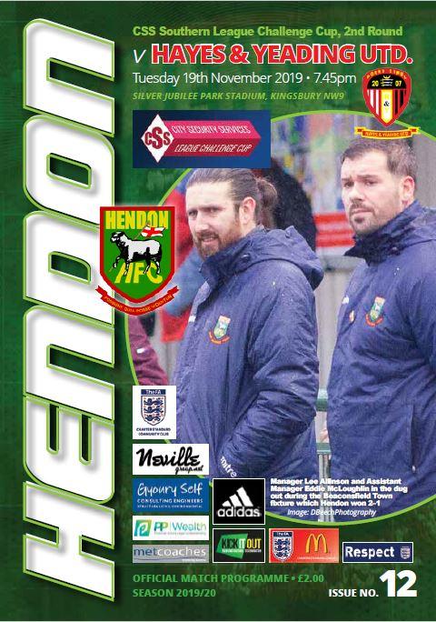 Hendon versus Hayes Yeading cover