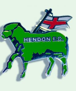 Hendon badge in green lamb