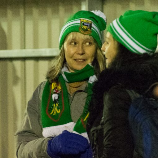 Hendon fan in bobble hat