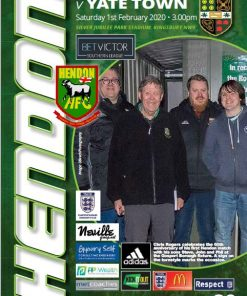HFC versus Yate Town program cover