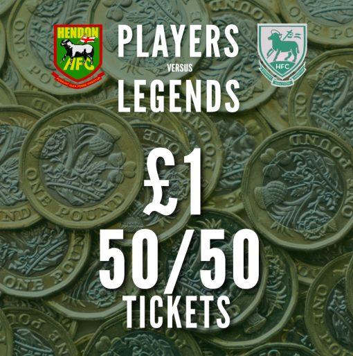 one pound 50/50 tickets