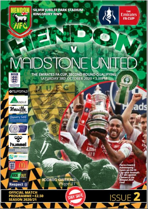 Hendon FC versus Maidstone programme cover