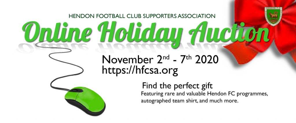 Hendon Supporters holiday online auction
