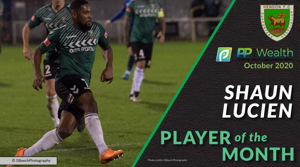 Hendon player of the month Shaun Lucien