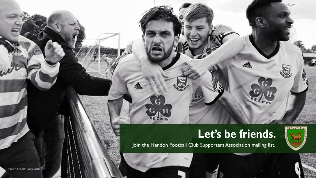 Hendon FC Supporters association give away