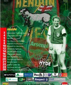 Hendon v Arsenal XI programme cover