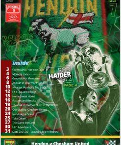 Hendon FC v Chesham programme